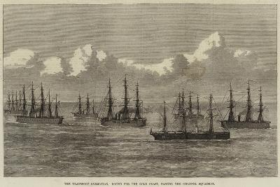 The Transport Sarmatian, Bound for the Gold Coast, Passing the Channel Squadron--Giclee Print
