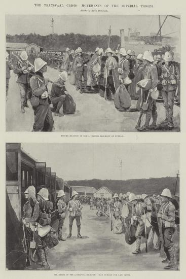 The Transvaal Crisis, Movements of the Imperial Troops--Giclee Print