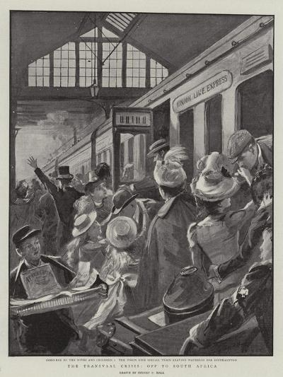 The Transvaal Crisis, Off to South Africa-Sydney Prior Hall-Giclee Print