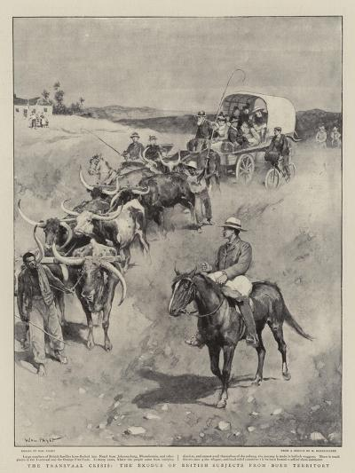 The Transvaal Crisis, the Exodus of British Subjects from Boer Territory-Walter Stanley Paget-Giclee Print