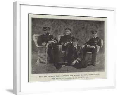 The Transvaal War, Admiral Sir Robert Harris, Commanding the Fleet in Simon's Bay, and Staff--Framed Giclee Print