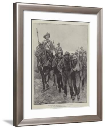 The Transvaal War, Boer Prisoners on the Way to Pietermaritzburg-Richard Caton Woodville II-Framed Giclee Print