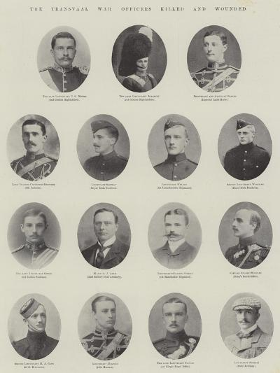 The Transvaal War, Officers Killed and Wounded--Giclee Print
