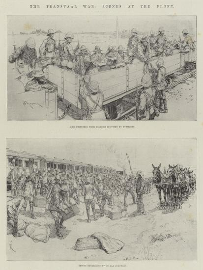 The Transvaal War, Scenes at the Front-Amedee Forestier-Giclee Print