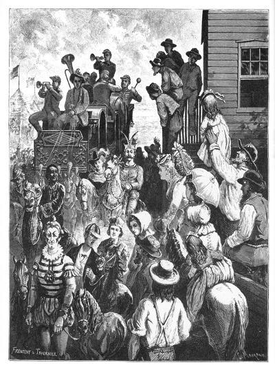 The Travelling Circus, C1870S- Tavernier and Frenzeny-Giclee Print