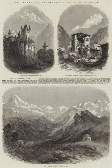 The Travelling Season, Sketches in Switzerland--Giclee Print