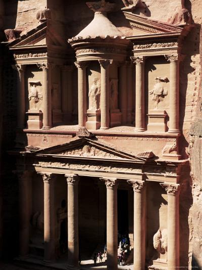 The Treasury (El Khazneh), Petra, Unesco World Heritage Site, Jordan, Middle East-Bruno Morandi-Photographic Print