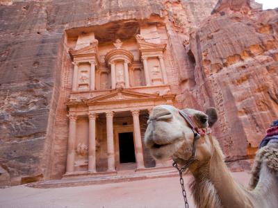 The Treasury, Petra, Jordan-Michele Falzone-Photographic Print
