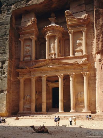 The Treasury, Rock Cut Building Dating from Nabatean Times, Petra, Jordan-G Richardson-Photographic Print