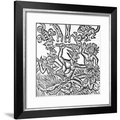 The Treatment of the Soul by Demons, Suffering and Exasperated--Framed Giclee Print