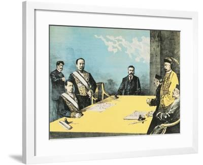 The Treaty of Shimonoseki also known as the Treaty of Maguan--Framed Giclee Print