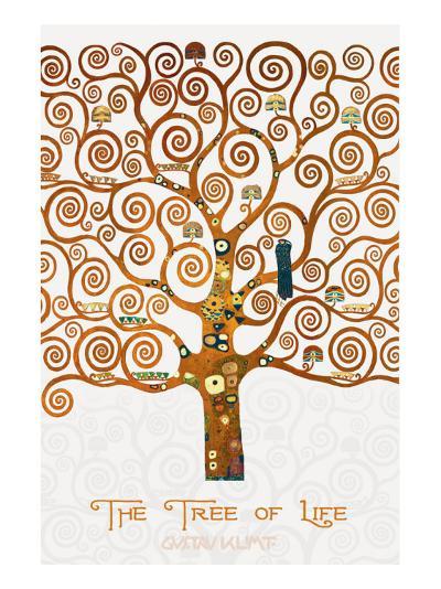 The Tree of Life Pastiche Marzipan-Gustav Klimt-Premium Giclee Print