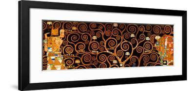 The Tree of Life, Stoclet Frieze, c.1909 (darkened detail)-Gustav Klimt-Framed Art Print