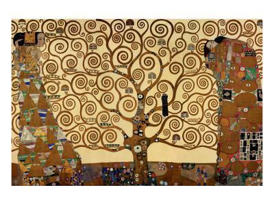 Gustav Klimt oversize print fine reproduction part 3 fine art print part of the tree of life 1911 Frieze