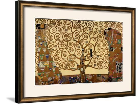 The Tree Of Life Stoclet Frieze C1909 Framed Art Print By Gustav