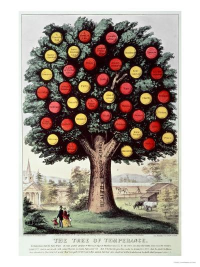 The Tree of Temperance, 1872-Currier & Ives-Giclee Print