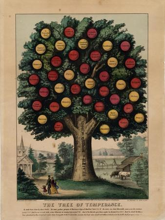 The Tree of Temperance, Pub. by Currier and Ives, 1872