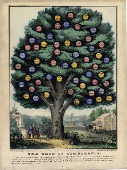 The Tree of Temperance, Published by N. Currier, New York, 1849-Currier & Ives-Giclee Print