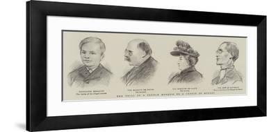 The Trial of a French Marquis on a Charge of Murder--Framed Giclee Print