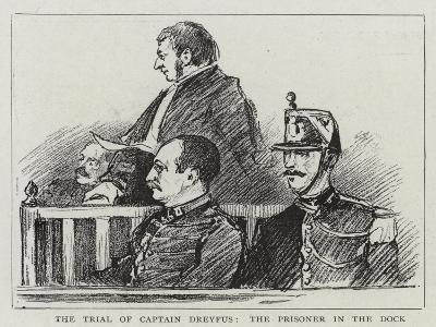 The Trial of Captain Dreyfus, the Prisoner in the Dock--Giclee Print