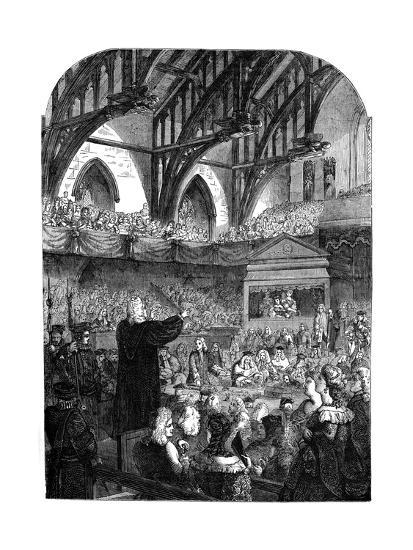 The Trial of Dr Sacheverel, 18th Century--Giclee Print