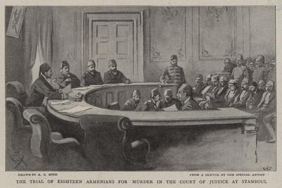 The Trial of Eighteen Armenians for Murder in the Court of Justice at Stamboul-Alexander Stuart Boyd-Giclee Print