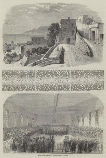 The Trial of English Engineers at Salerno--Giclee Print