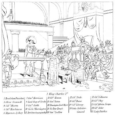 The Trial of King Charles I (1600-164)--Giclee Print
