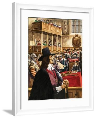 The Trial of King Charles the First in Westminster Hall-Peter Jackson-Framed Giclee Print