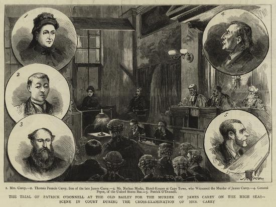 The Trial of Patrick O'Donnell at the Old Bailey for the Murder of James Carey on the High Seas--Giclee Print