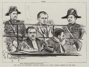 The Trial of President Carnot's Assassin at Lyons, Santo Caserio in the Dock