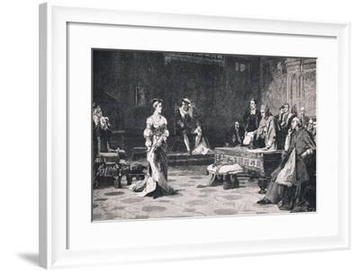 The Trial of Queen Catherine 1528-Lattanzio Querena-Framed Giclee Print