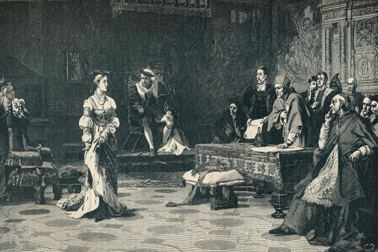 The trial of Queen Catherine, 1529 (1905)-Unknown-Giclee Print