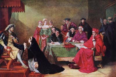 The Trial of Queen Catherine, 19th Century-Henry Nelson O'Neil-Giclee Print