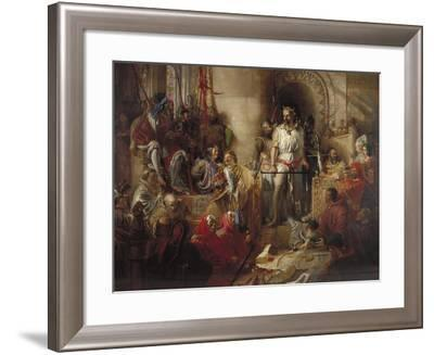 The Trial of Sir William Wallace at Westminster, C1831-1890-William Bell Scott-Framed Giclee Print