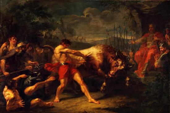 The Trial of Strength of Yan Usmar, 1796-Grigori Ivanovich Ugryumov-Giclee Print