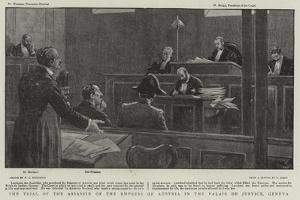 The Trial of the Assassin of the Empress of Austria in the Palais De Justice, Geneva