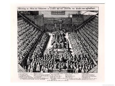The Trial of the Thomas Wentworth Earl of Strafford in 1641-Wenceslaus Hollar-Giclee Print