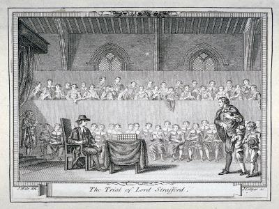 The Trial of Thomas Wentworth, Earl of Strafford, Westminster Hall, London, 1641-J Collyer-Giclee Print