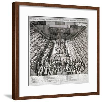 The Trial of Thomas Wentworth, Earl of Strafford, Westminster Hall, London, 1641-Wenceslaus Hollar-Framed Giclee Print