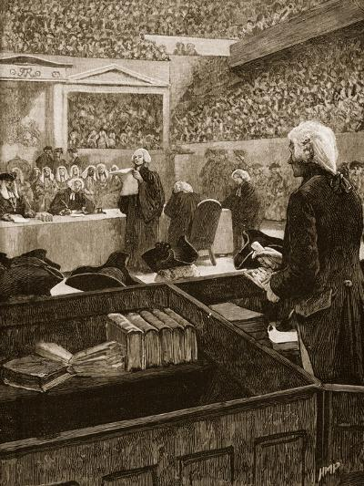 The Trial of Warren Hastings, Illustration from 'Cassell's Illustrated History of England'--Giclee Print