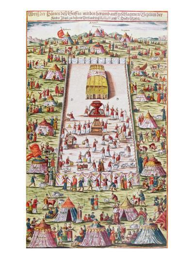 The Tribes of Israel Reunited around the Ark of the Covenant in the Sinai Desert, after the Exodus --Giclee Print