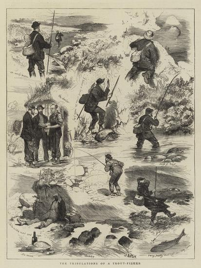 The Tribulations of a Trout-Fisher-Joseph Nash-Giclee Print