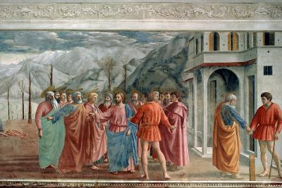 The Tribute Money, 1425-Masaccio Tommaso-Giclee Print
