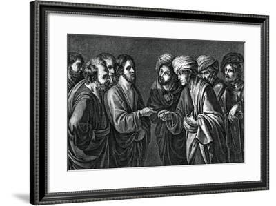 The Tribute to Caesar, 17th Century--Framed Giclee Print