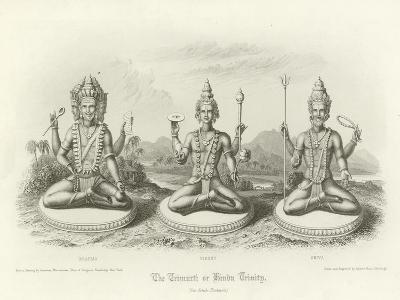 The Trimurti or Hindu Trinity--Giclee Print