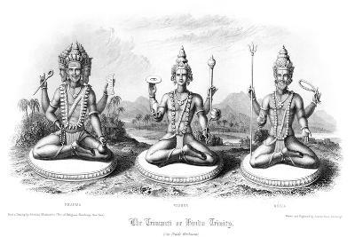 The Trimurti or Hindu Trinity-Andrew Thomas-Giclee Print