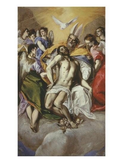 The Trinity 1577-9 Painted at Toledo 300X179Cm-El Greco-Giclee Print