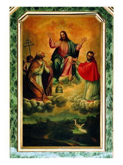 The Trinity and Saints Gregory and Charles Borromeo--Giclee Print