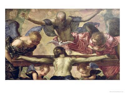 The Trinity-Jacopo Robusti Tintoretto-Giclee Print